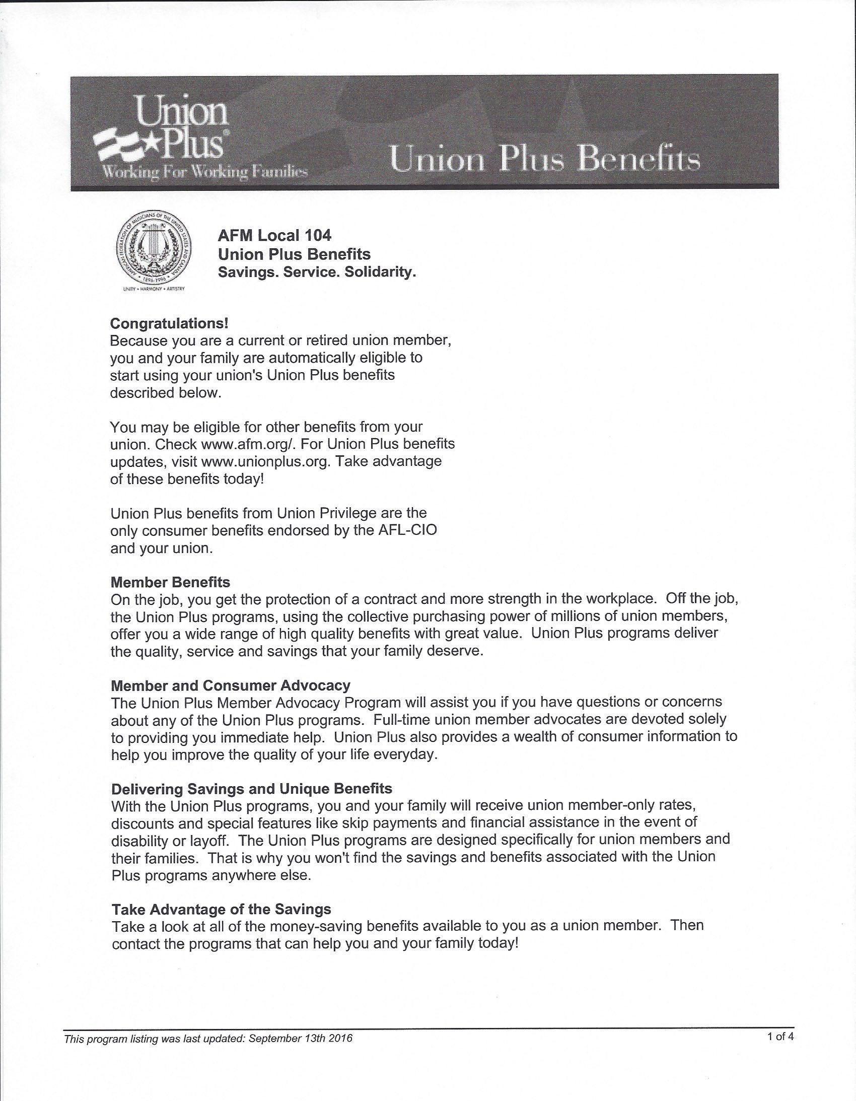 Union Plus Benefits >> Union Plus Benefits Local 104 Afm Salt Lake City